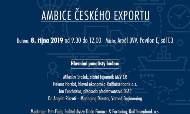 Odborná konference – Ambice českého exportu