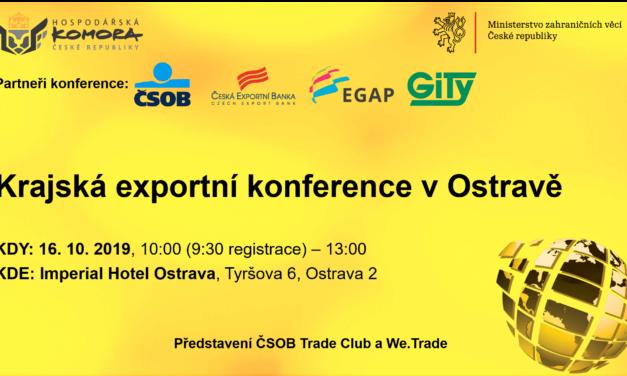 Krajská exportní konference v Ostravě