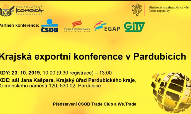 Krajská exportní konference v Pardubicích