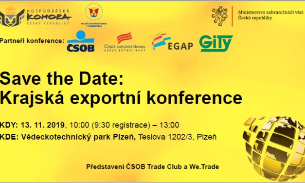 Krajská exportní konference v Plzni